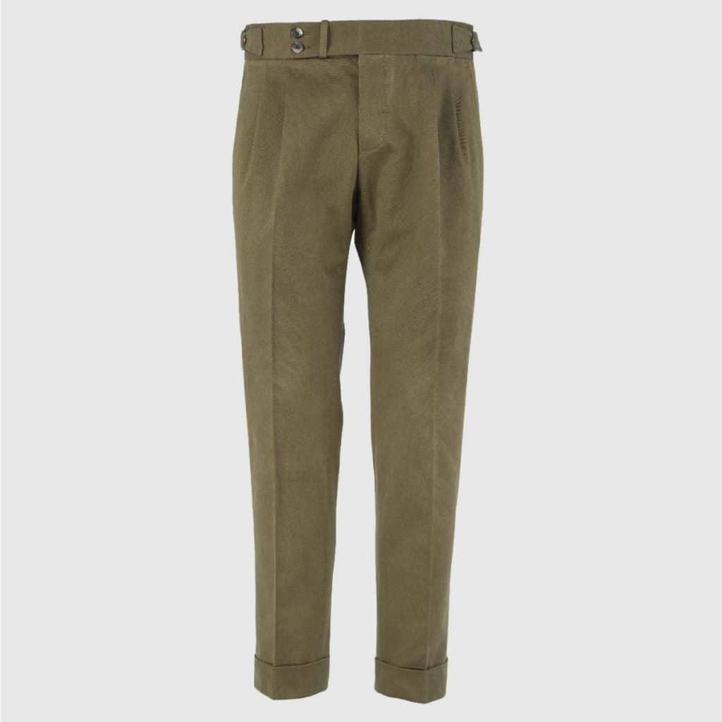 Pantalone 100% Cotone Verde Militare