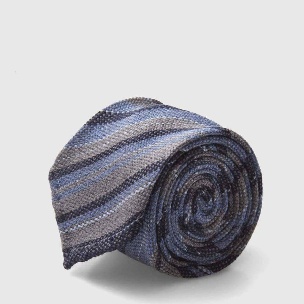 Striped melange Jacquard Silk tie