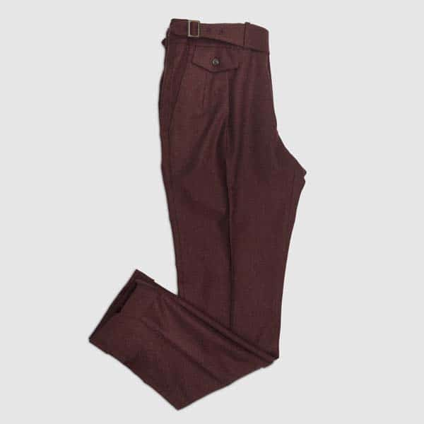 Red Amaranth Single Pleat Trousers