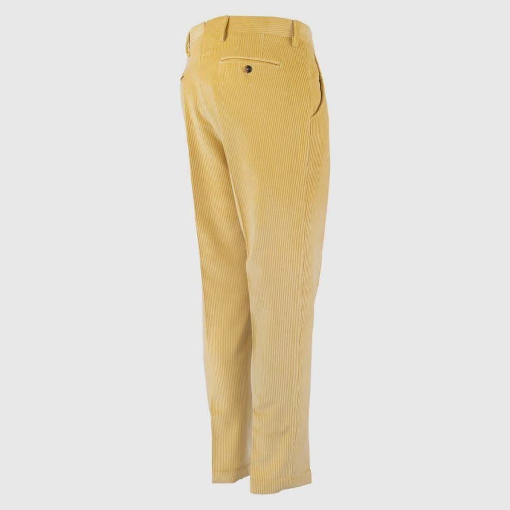 Yellow Corduroy Normal Fit Trousers