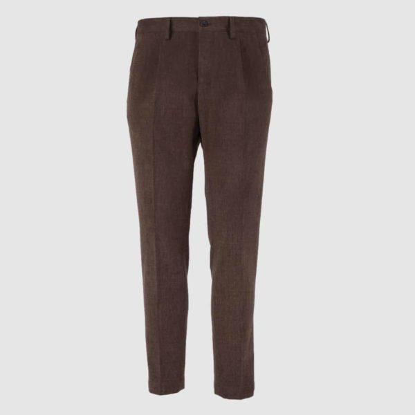 Pantalone 100% Cotone marrone Regular Fit