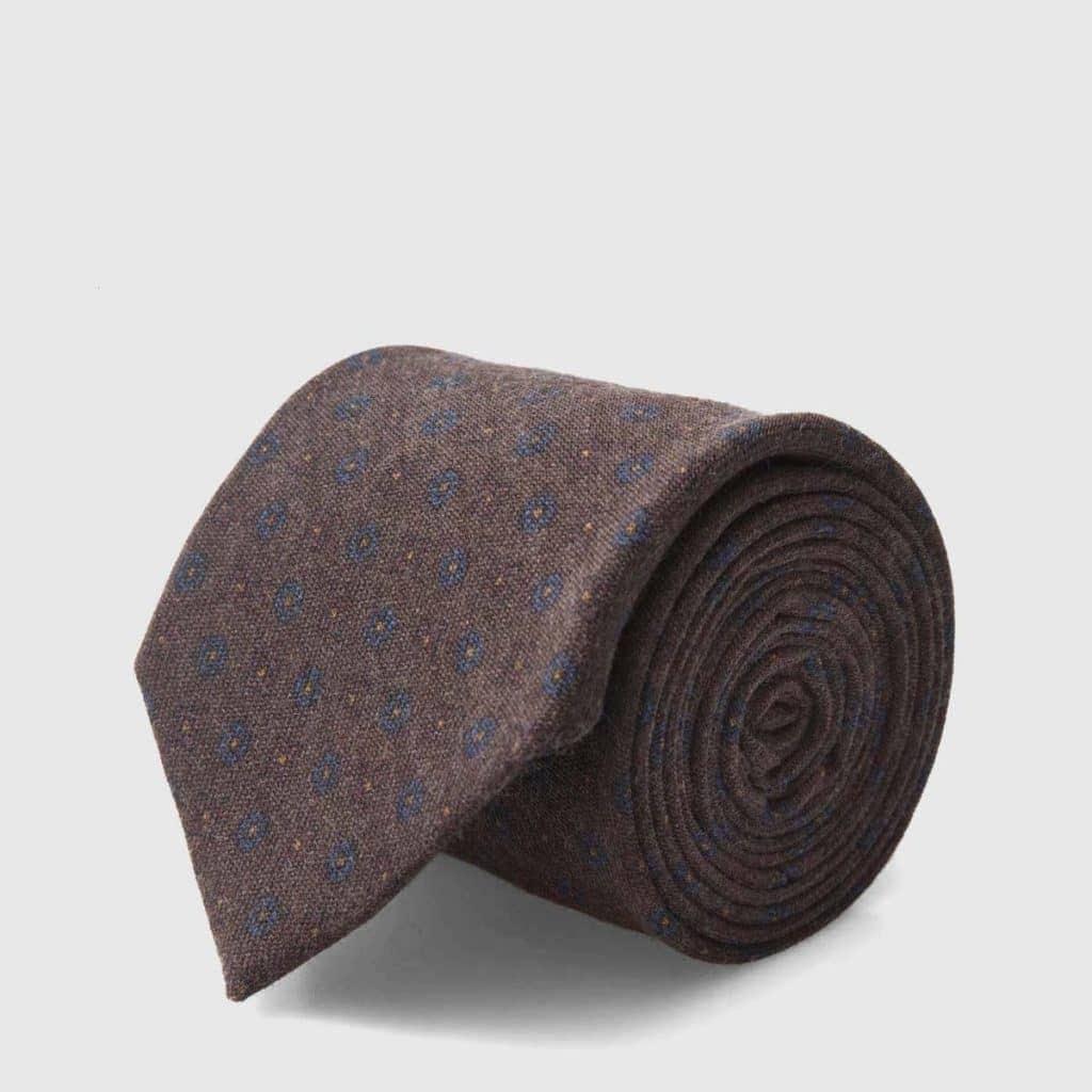 Chocolate Brown Virgin Wool Tie