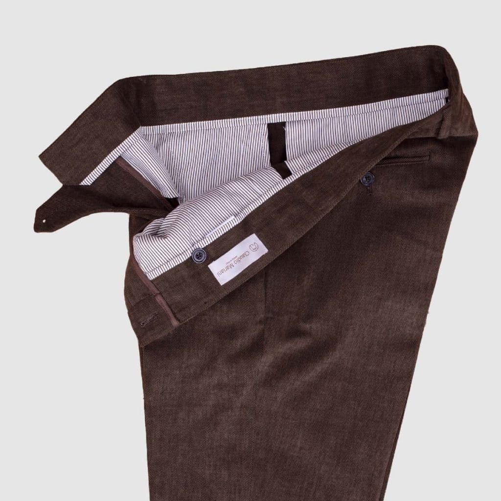 Cotton brown regular Fit Trousers