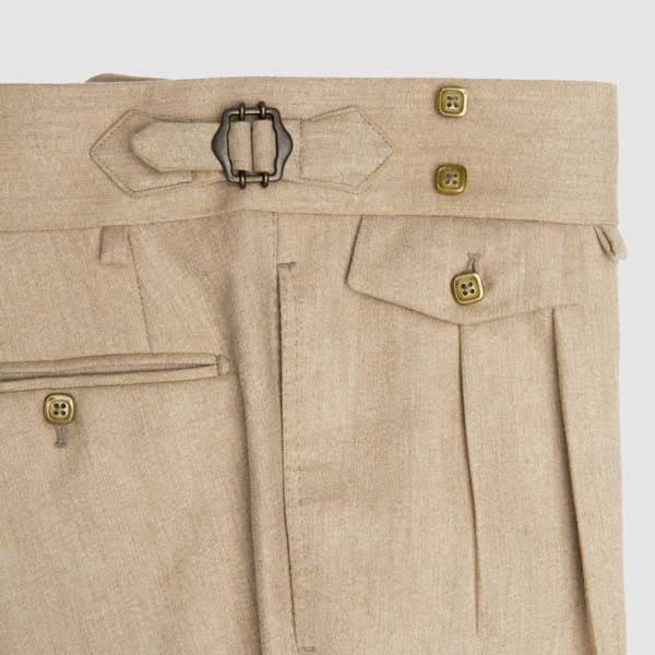"Two pleats ""safari"" Flannel wool"