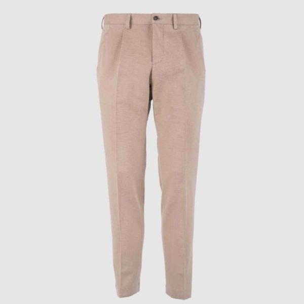 Pantalone 100% Cotone cammello Regular Fit