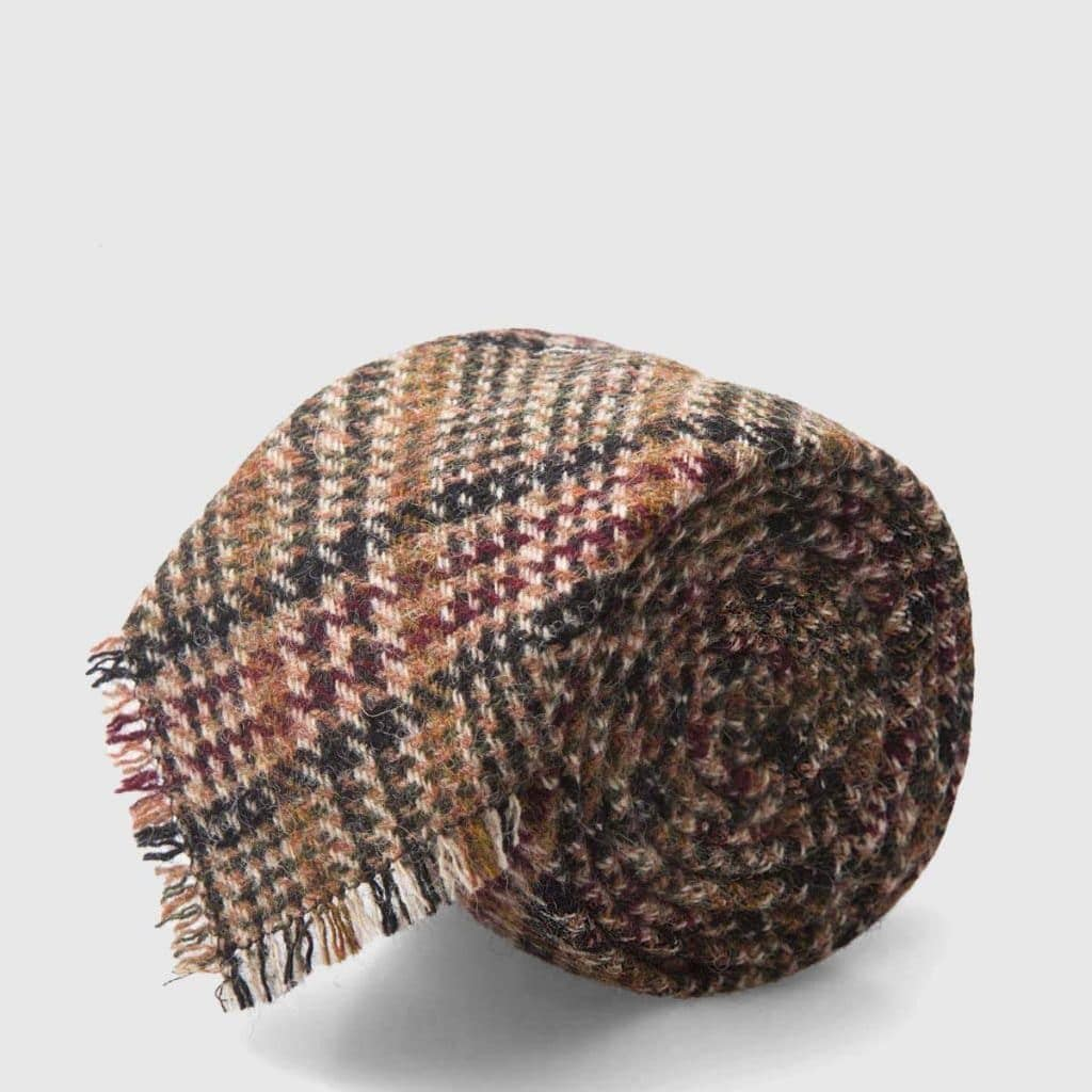 Frayed Tartan Wool Tie