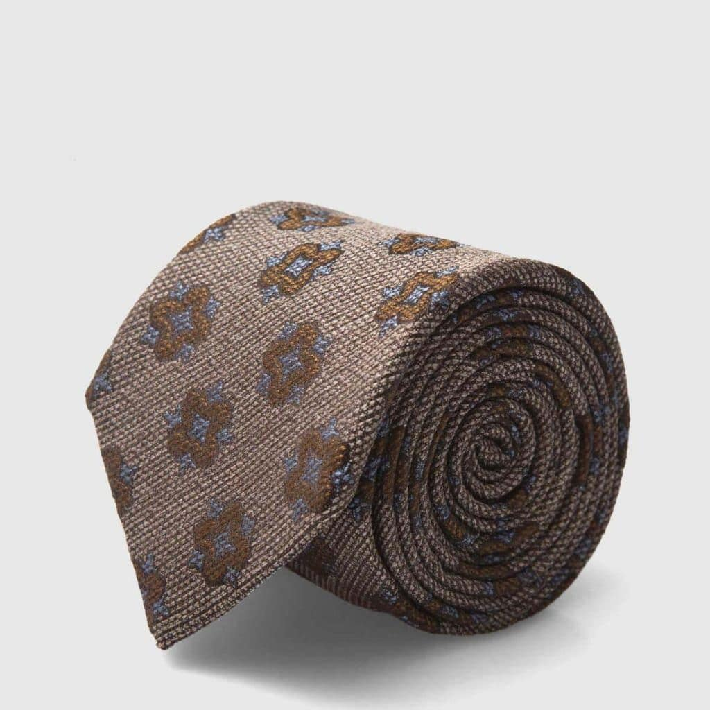 Light-Brown Iconic Jacquard Silk Tie
