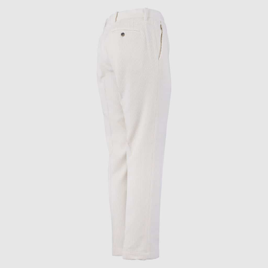 White Corduroy Normal Fit Trousers
