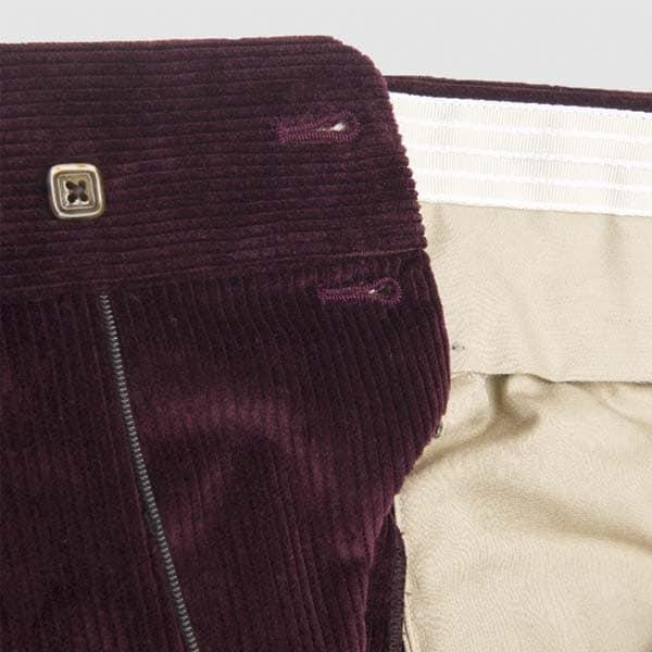 Purple Plum Corduroy One pleat Trousers