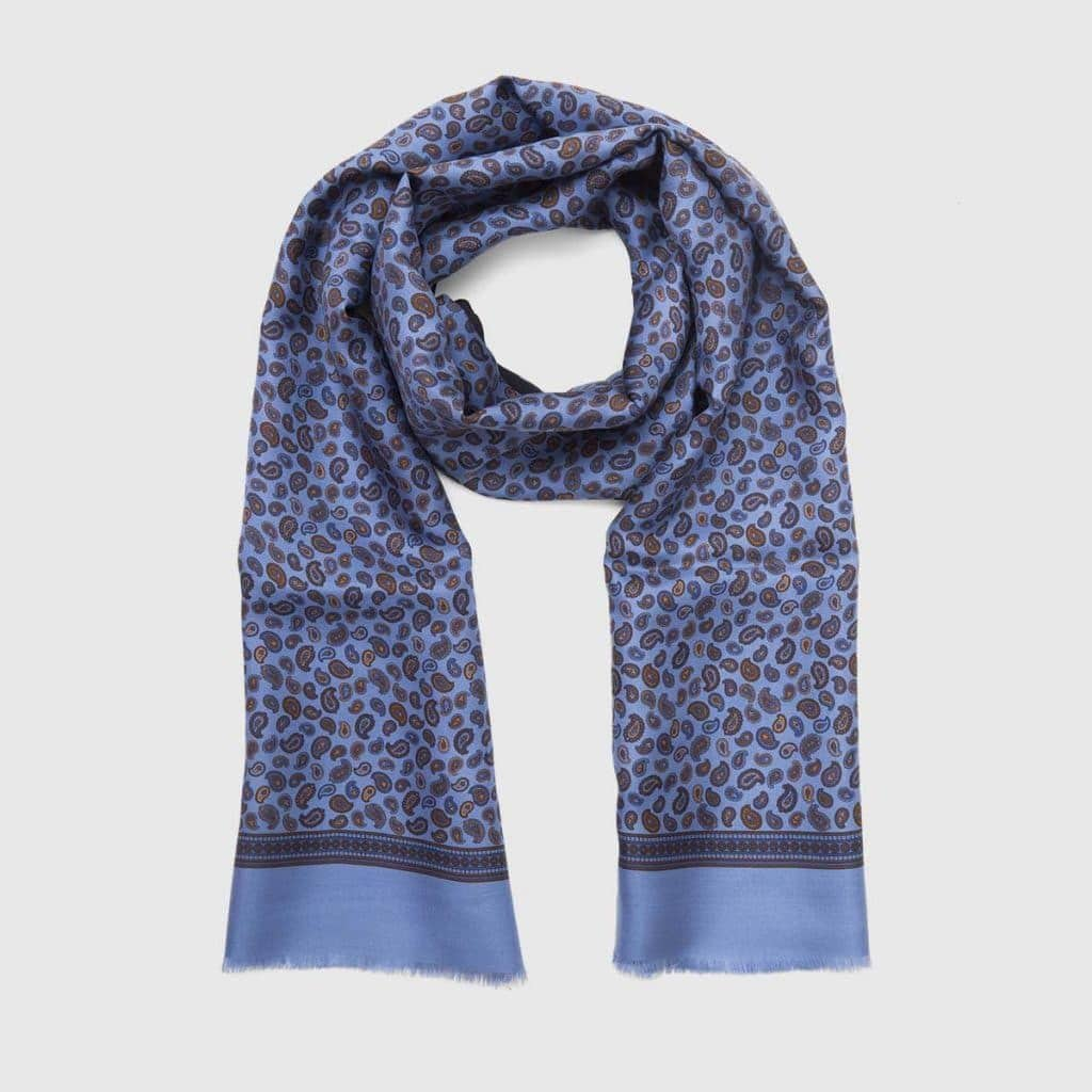 Celestial Silk Scarf with Paisley patterns