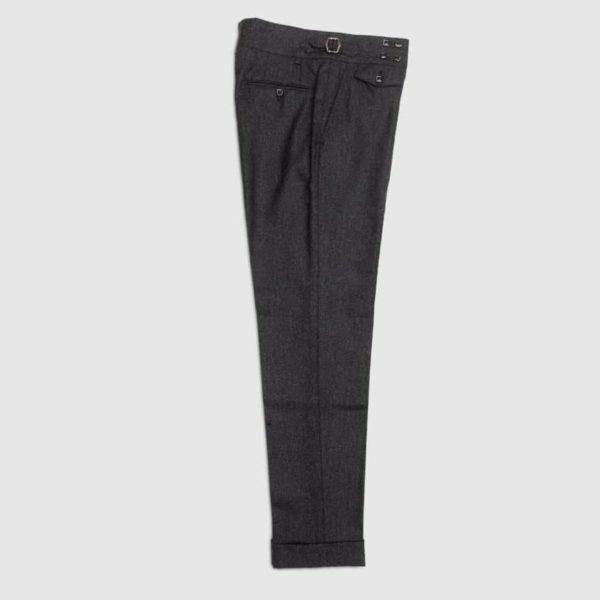Pantalone grigio in flanella di Lana