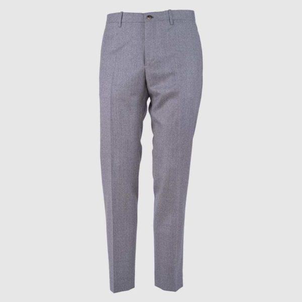 Pantalone 100% flanella di Lana grigio medio