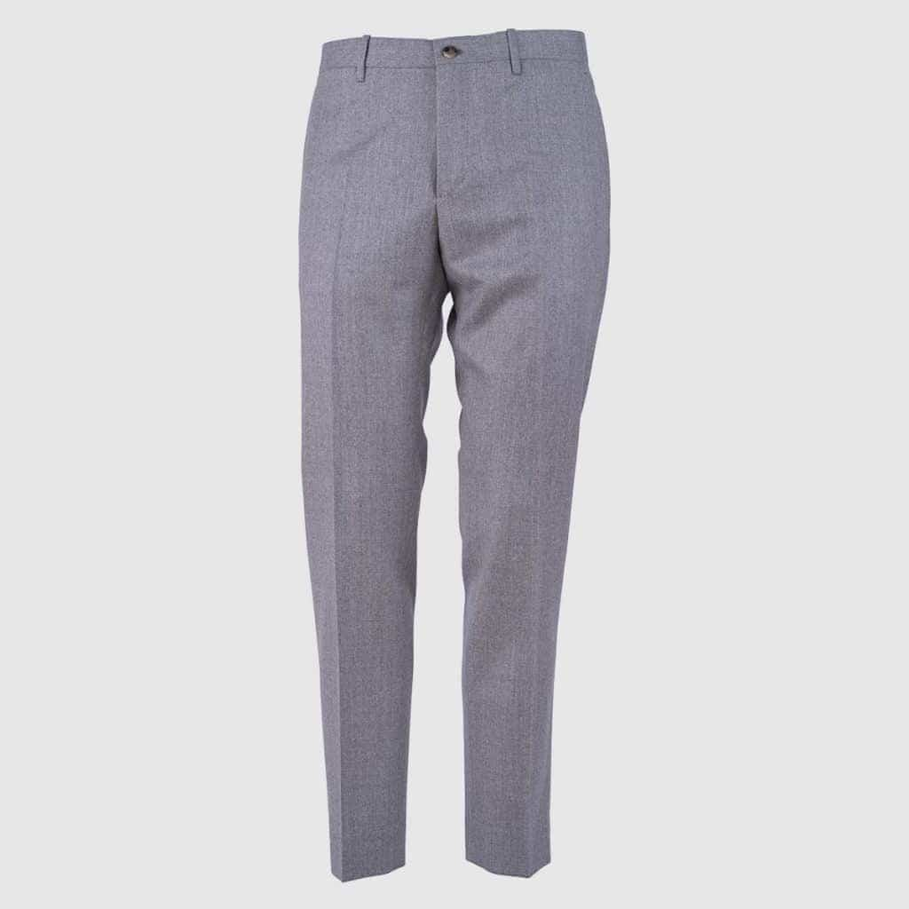 Grey 130'S Wool Trousers