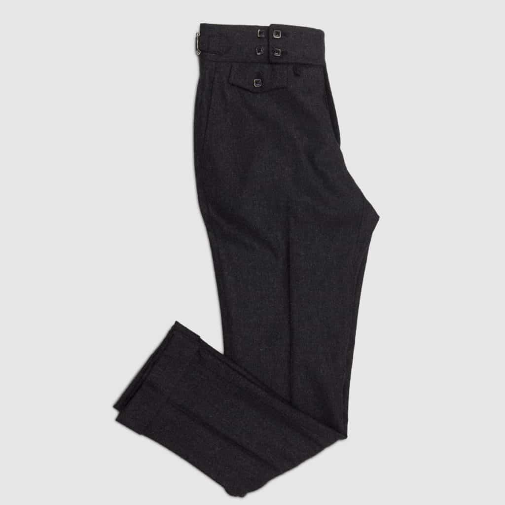 Grey flannel One pleat Trousers