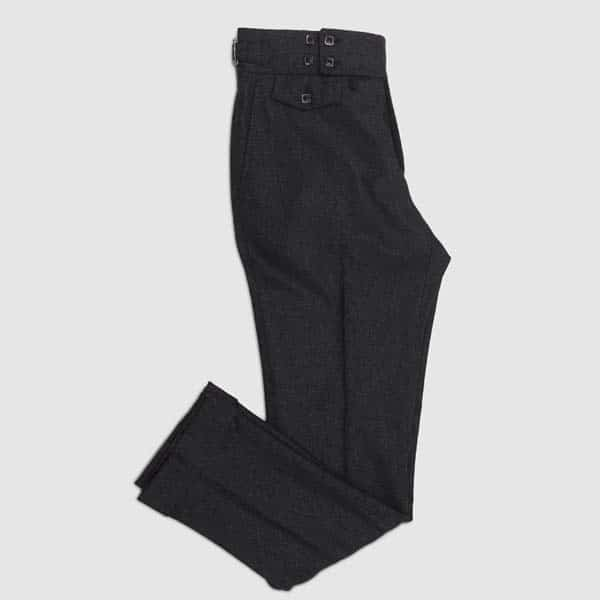 Grey flannel One pleat Trousers
