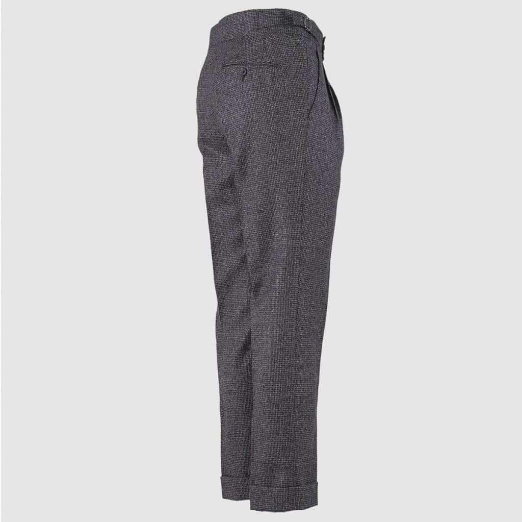 Pantalone 2 Pences 100% Lana Blu marrone e bianco