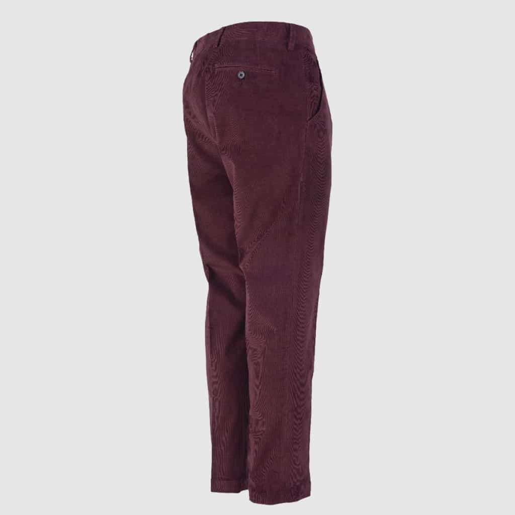 Plum Corduroy Normal Fit Trousers