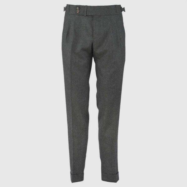 Pantalone 100% Flanella di Lana Verde