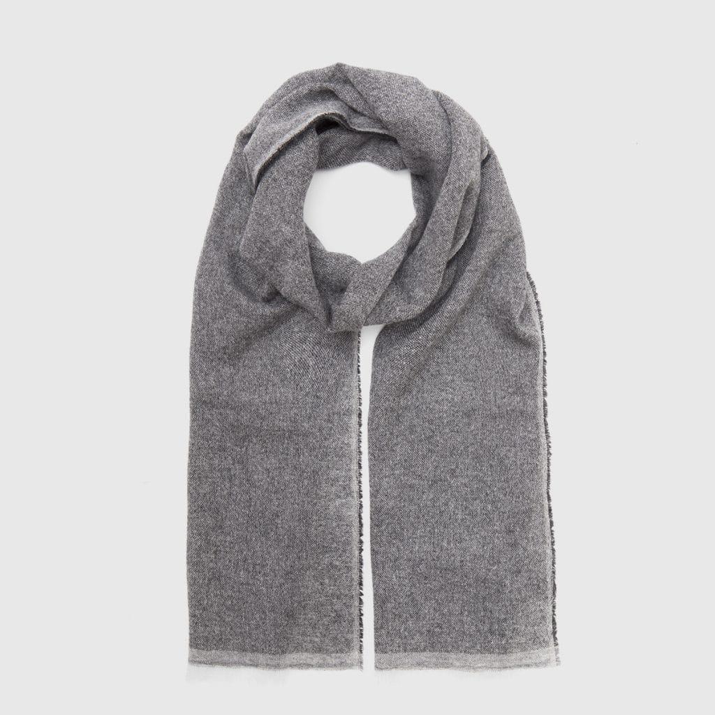 Grey 100% Cashmere Scarf