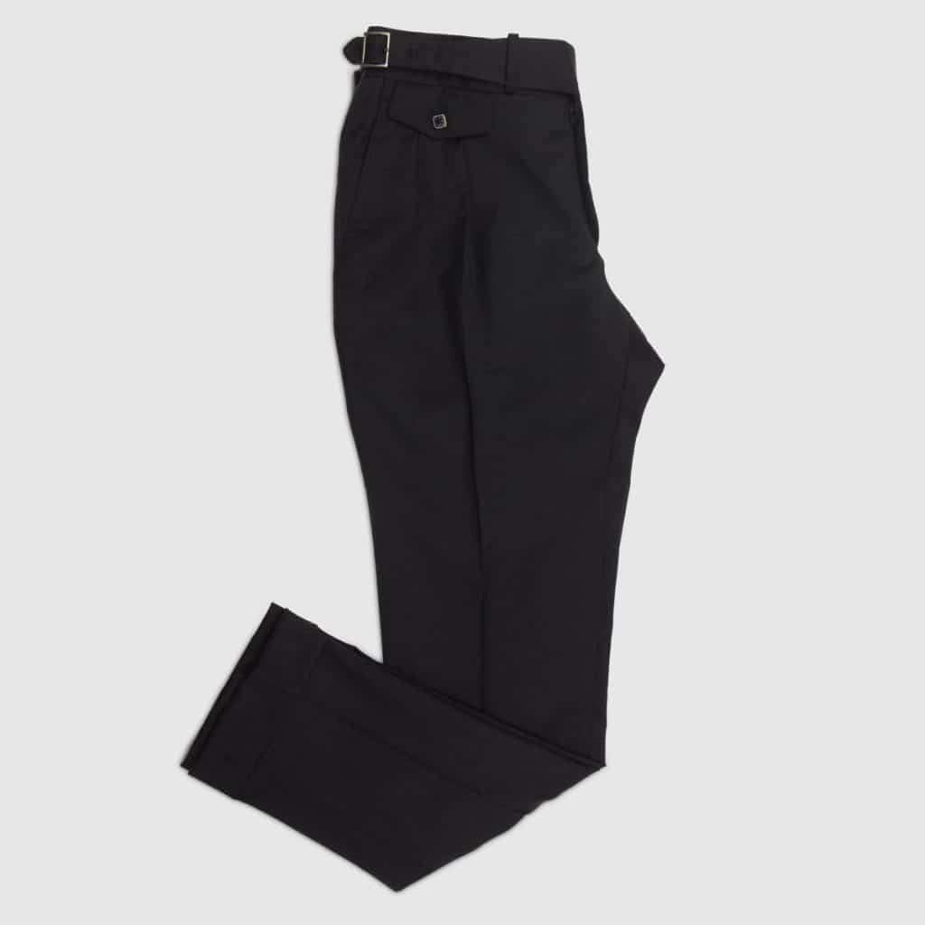 Pantalone single-pence in Flanella nera