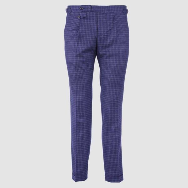 "Pantalone 1 Pence in Lana Blue ""Vitale Barberis Canonico"""