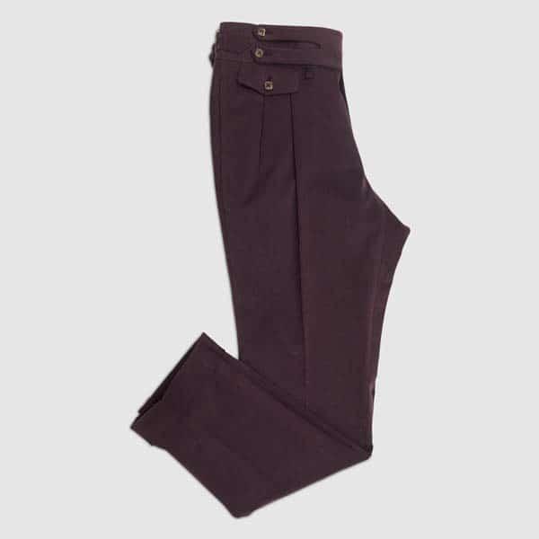 Bordeaux Velvet two pleats Trousers