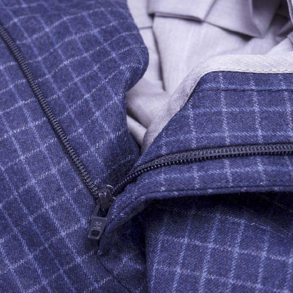 "Blue Wool "" Vitale Barberis Canonico"" Trousers"