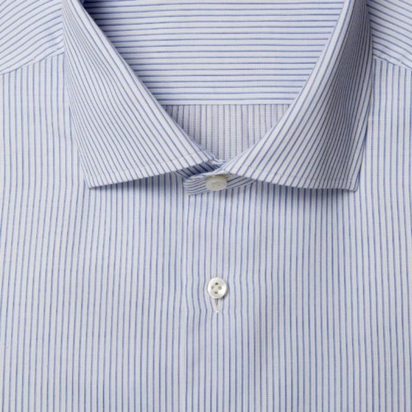 Twelve Steps blu and celestial striped Oxford shirt