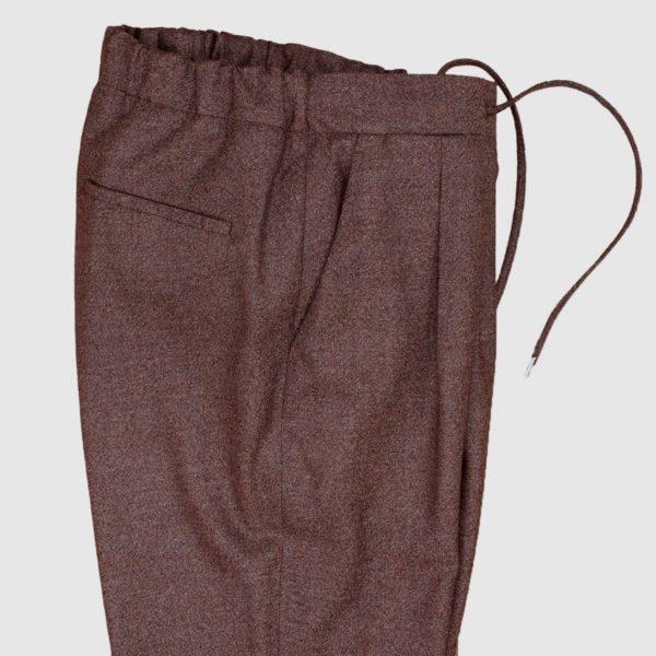 Pantalone color matton in 100% Lana con coulisse