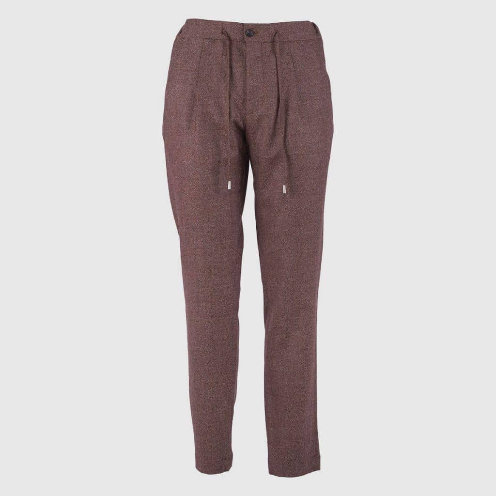 Brick Single pleat trousers relaxed fit