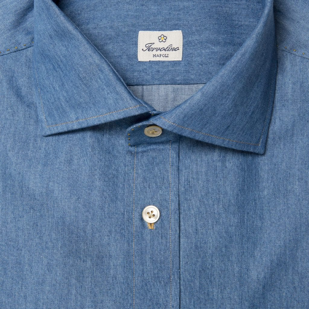 Light Denim Shirt with Pignata patch pocket