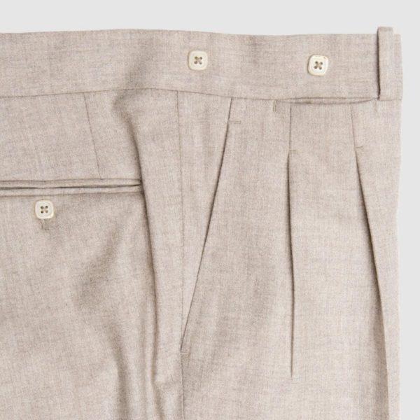 Pantalone grigio chiaro in flanella di Lana