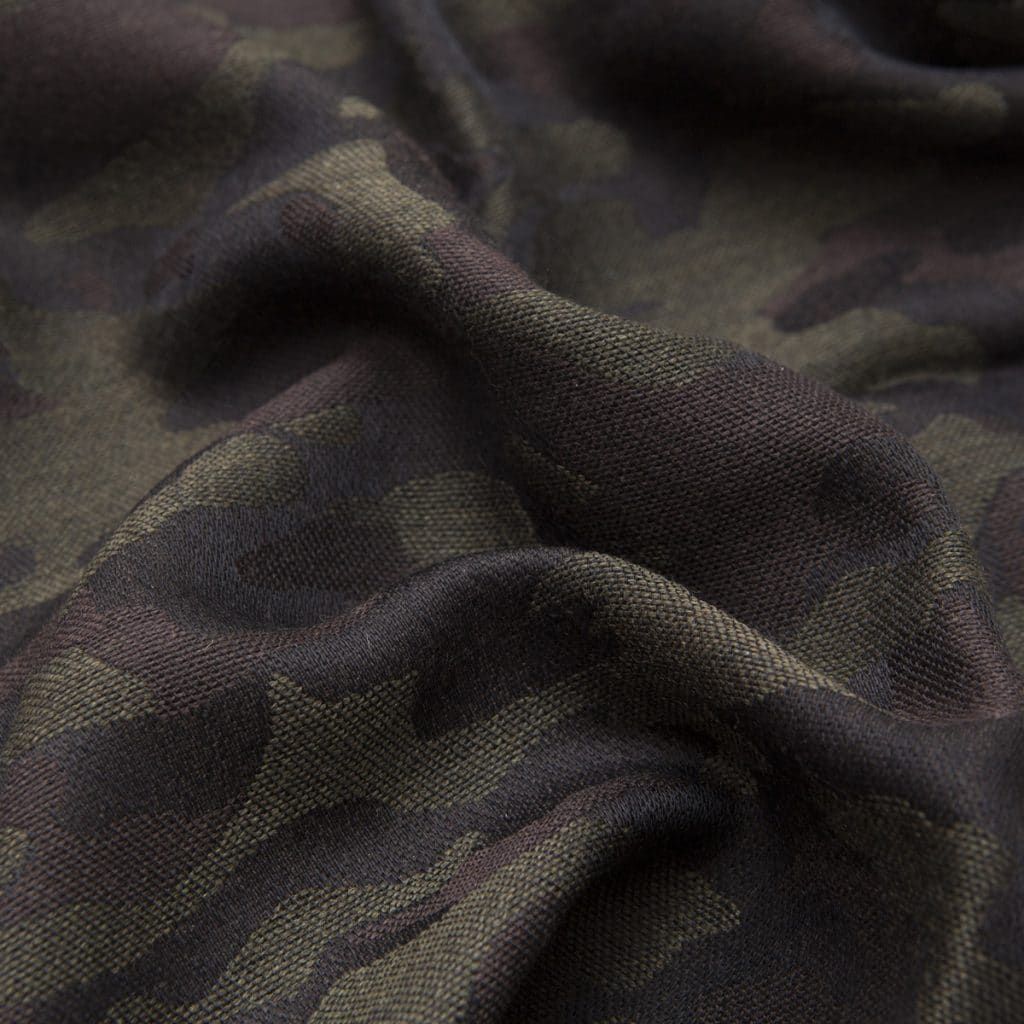 Sciarpa in Lana e Seta Camouflage grigia