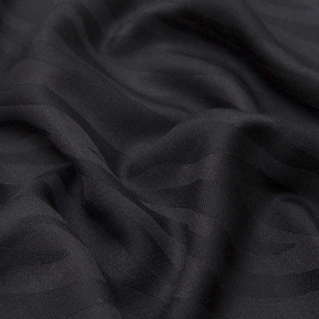 Black Camouflage Wool and Silk Scarf