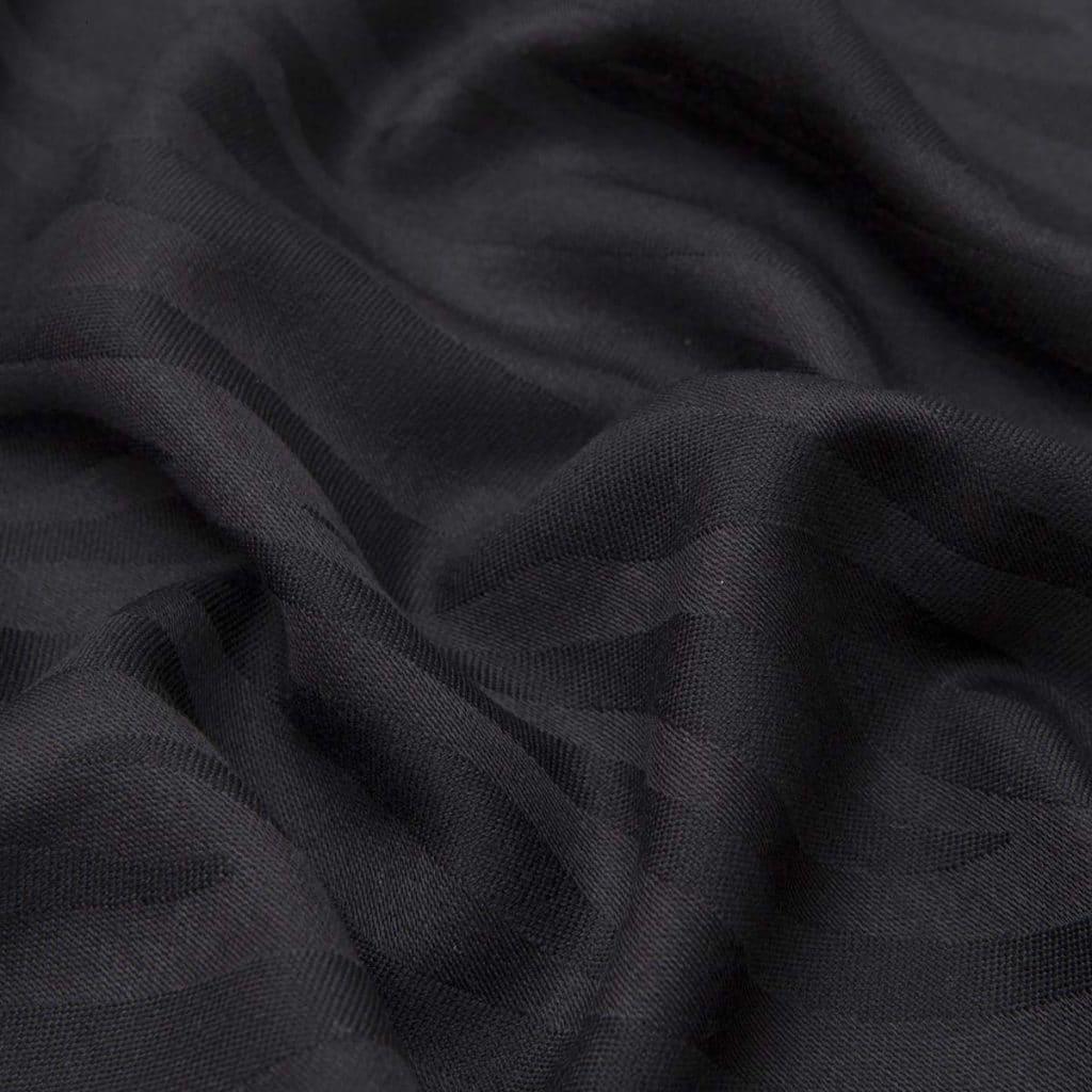 Sciarpa Camouflage nera in Lana e Seta