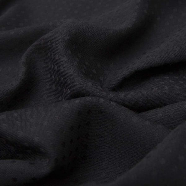 Black Wool and Silk Scarf with polka dots