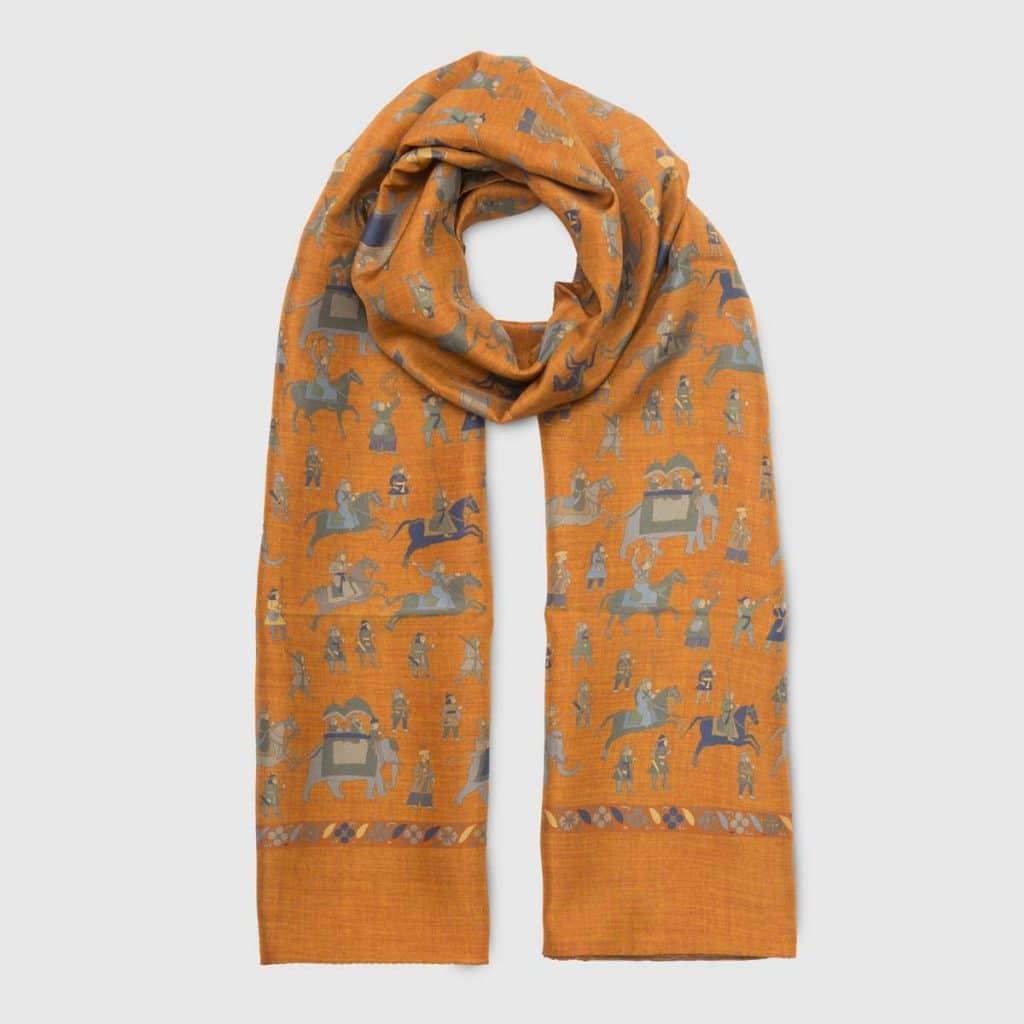 Orange Habotai 100% Silk Scarf