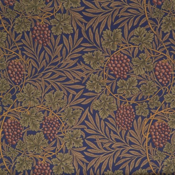 Sciarpa in Seta Habotai Blu background dettagli verdi