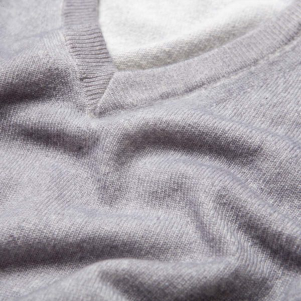 Gray airbrushed 100% Cashmere Sweater