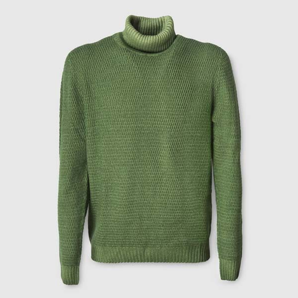 Light Green Merino Wool Rollneck Sweater