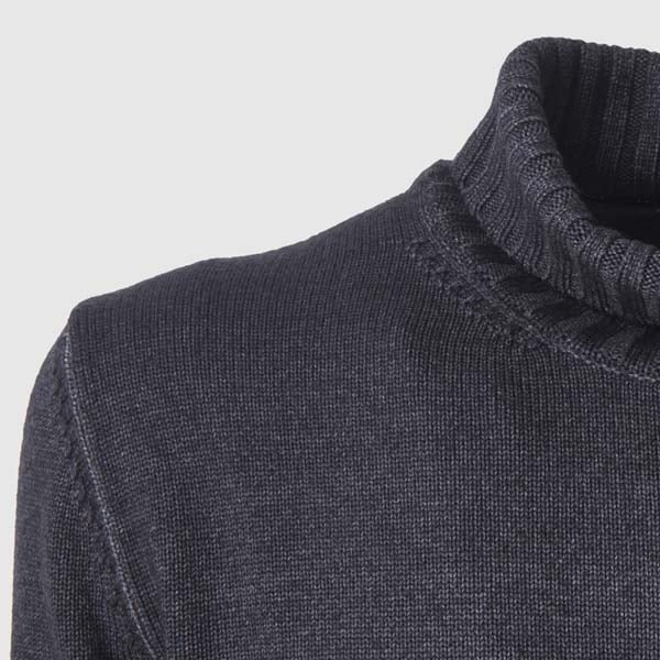 Anthracite Merino Wool Rollneck Sweater