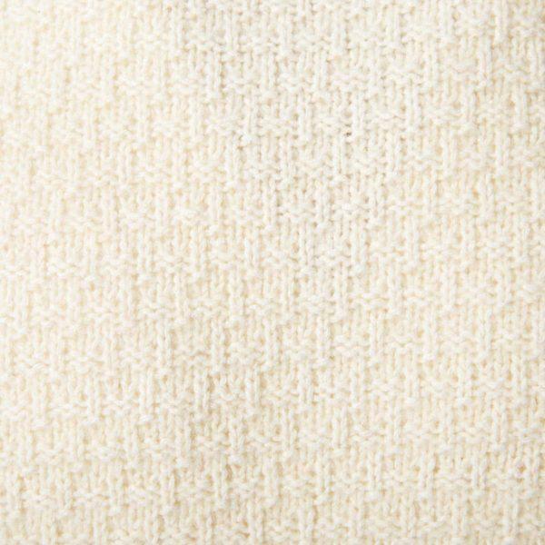 Maglione bianco panna modello Wolf collo alto
