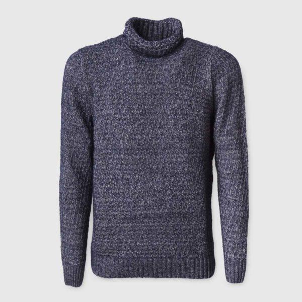 Ocean Waffle-Knit Silk & Wool Sweater