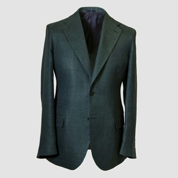 Green Hemp and Virgin Wool Blazer