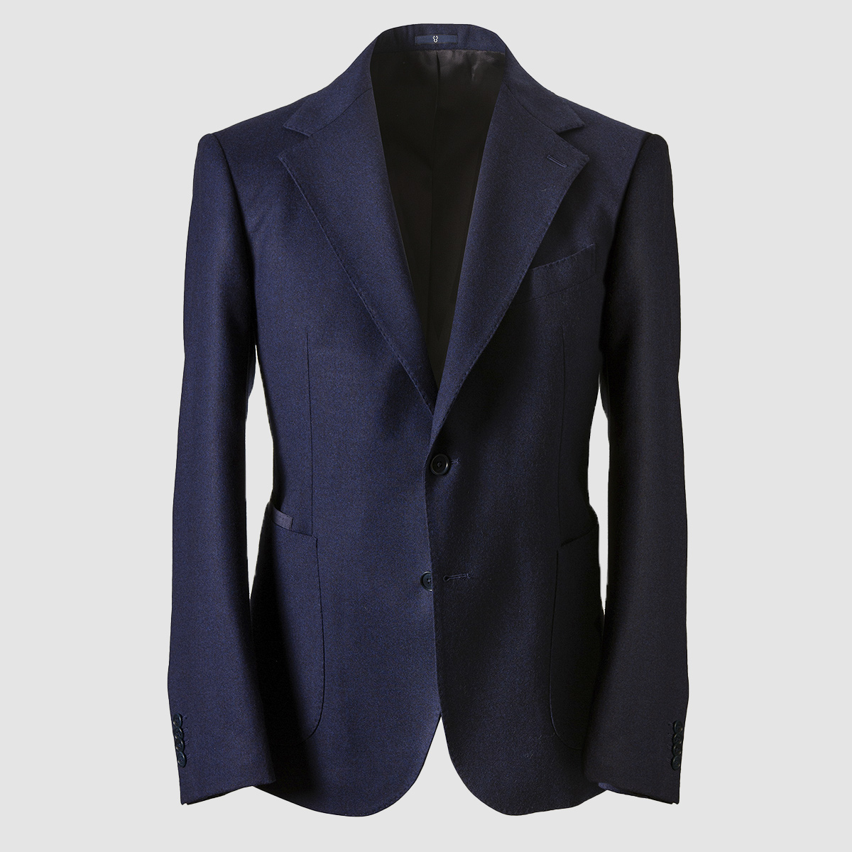 "Blue 100% Wool Blazer ""Vesuvio "" model"
