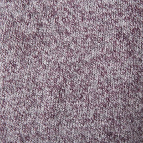 Purple-Grey Mohair Crew cut collar Sweater