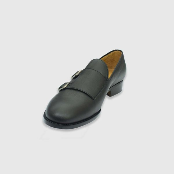 Onyx Double Monk Strap Oxfords