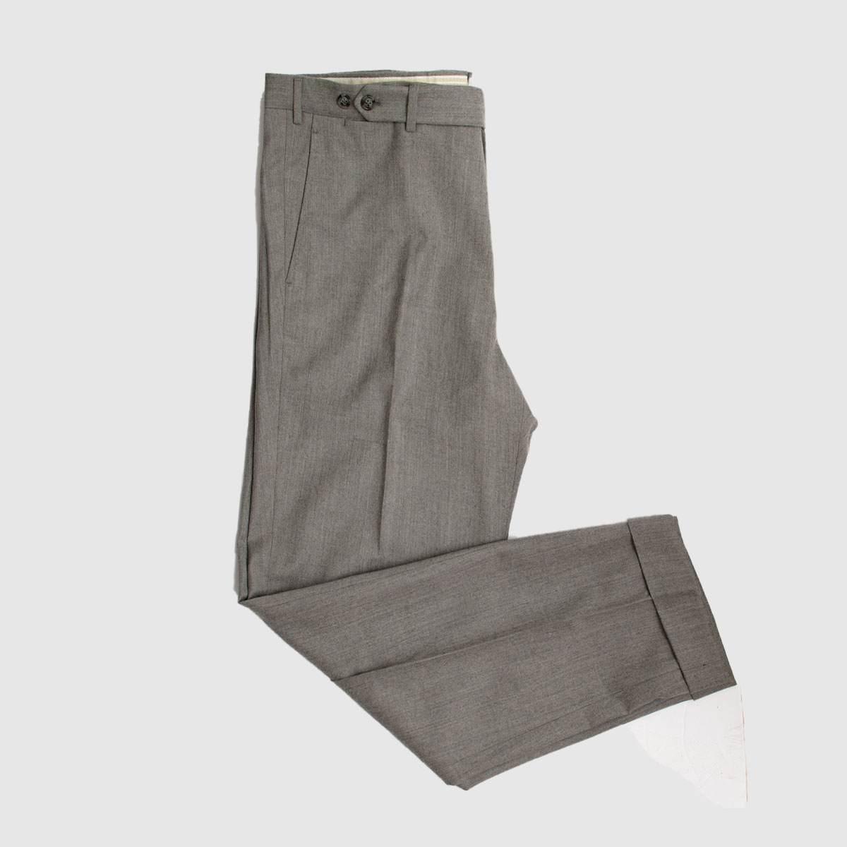Pantalone single pience in 100% lana grigia
