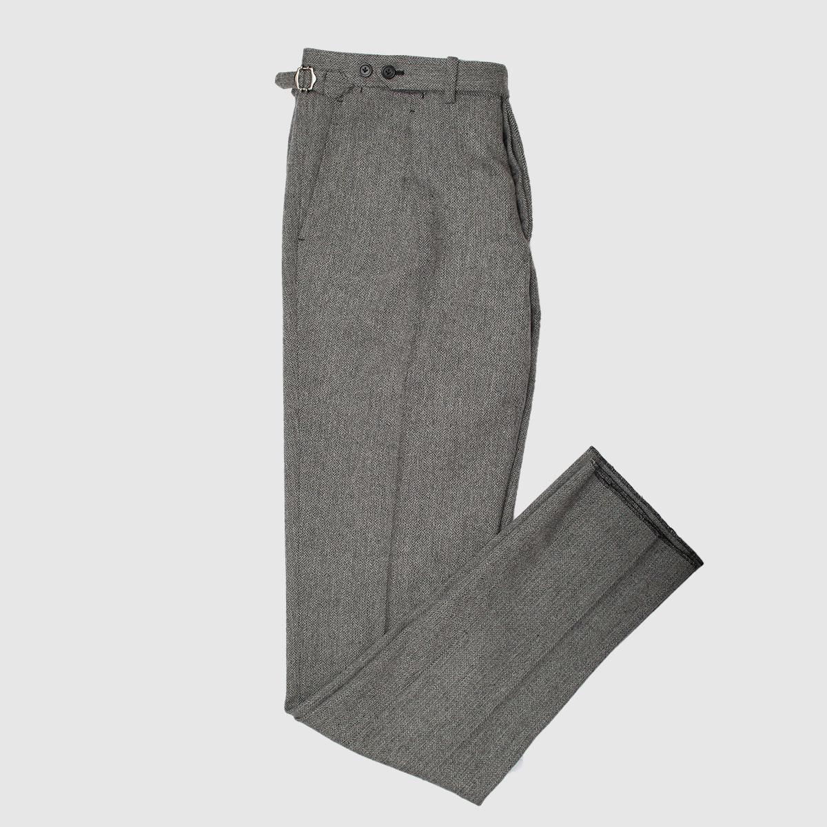 Pantalone 100% Single pience Spina di pesce