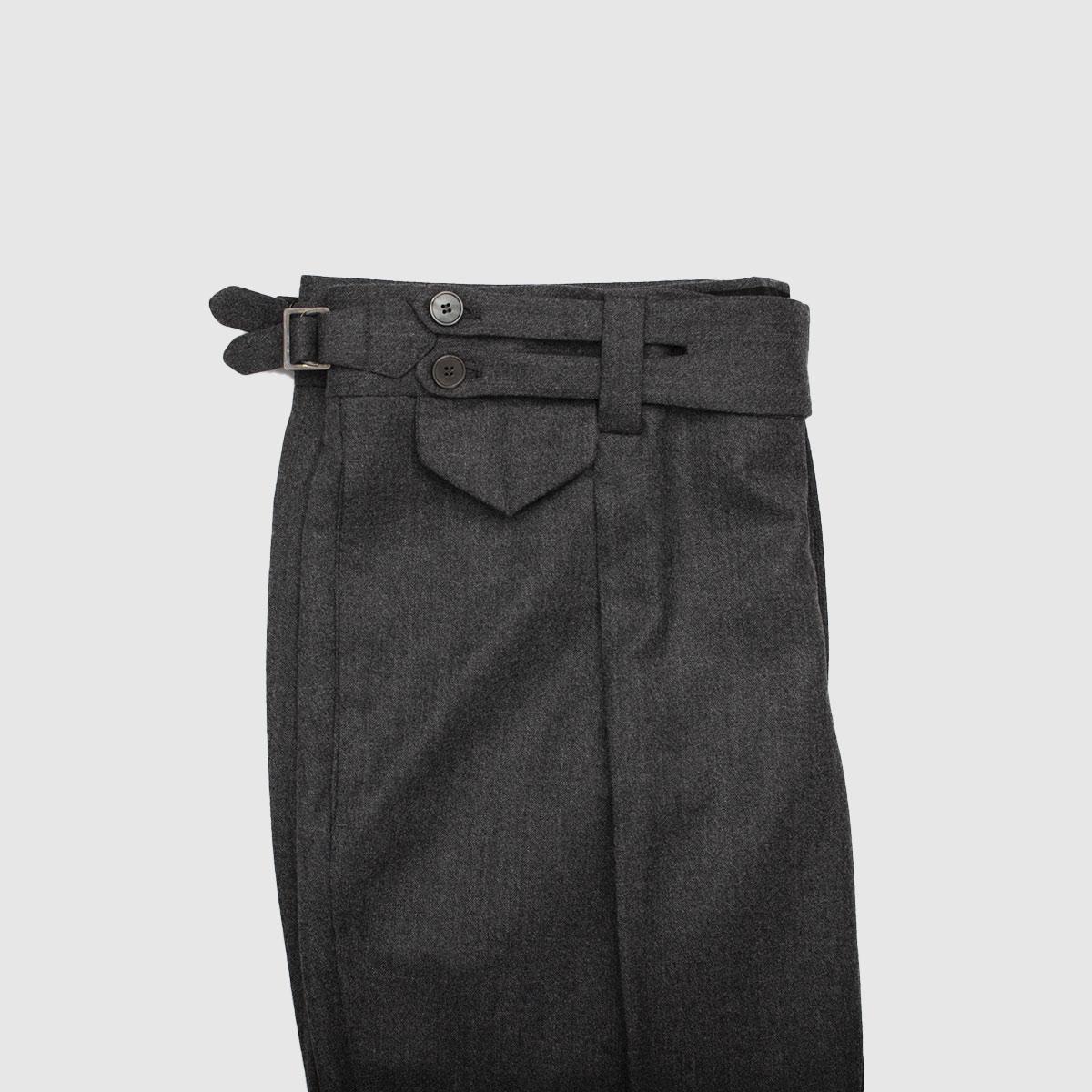 Pantalone 1 Pience 100% Lana Grigio antracite